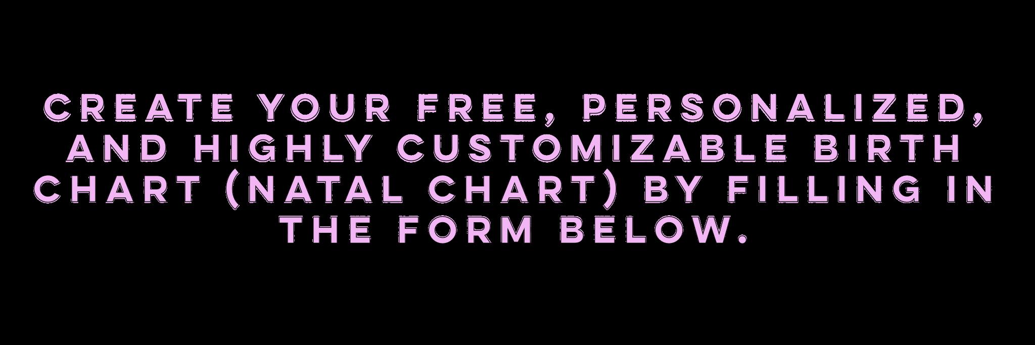 Free Birth Chart - Honi Bee