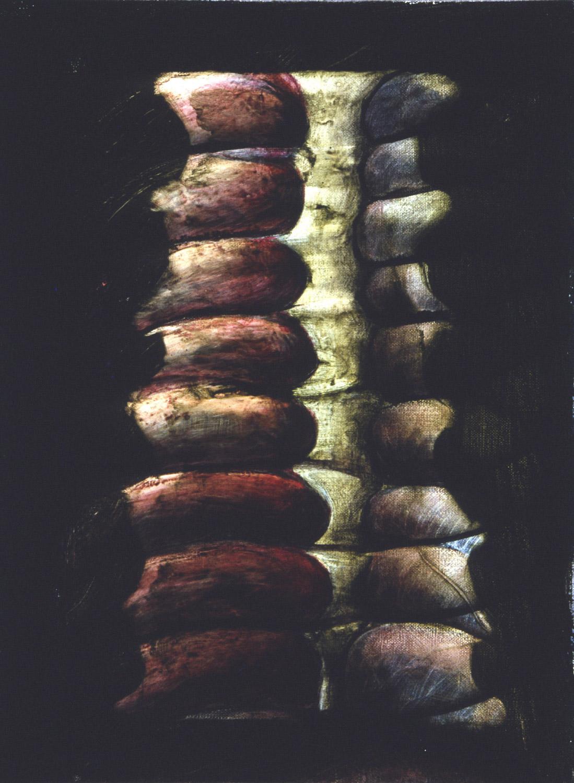 "3 Body Studies, 1999, 16x20"" each, oil on canvas"