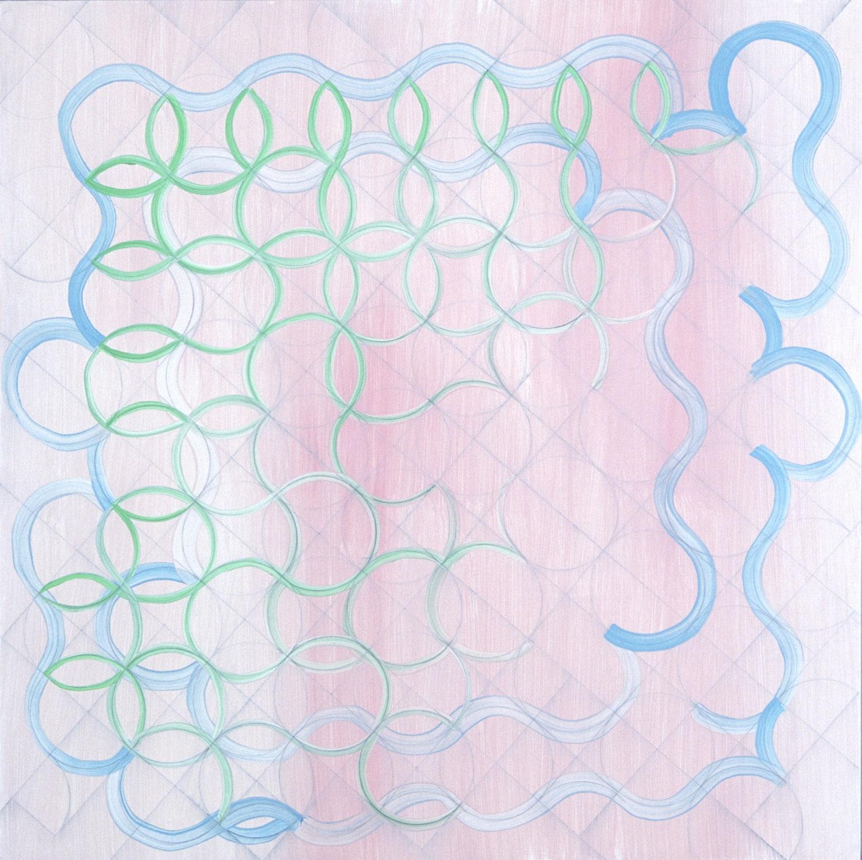 "Pink, 2000, 24x24"", oil on panel"
