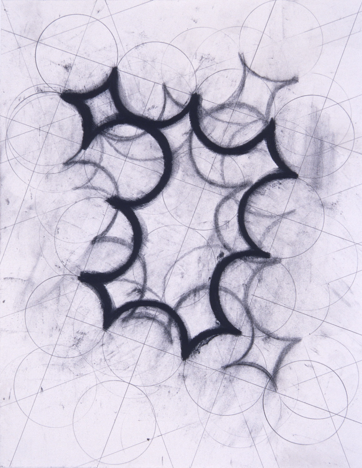 """9/20 #1, 2000, 11x14"""", charcoal & wax on paper"""