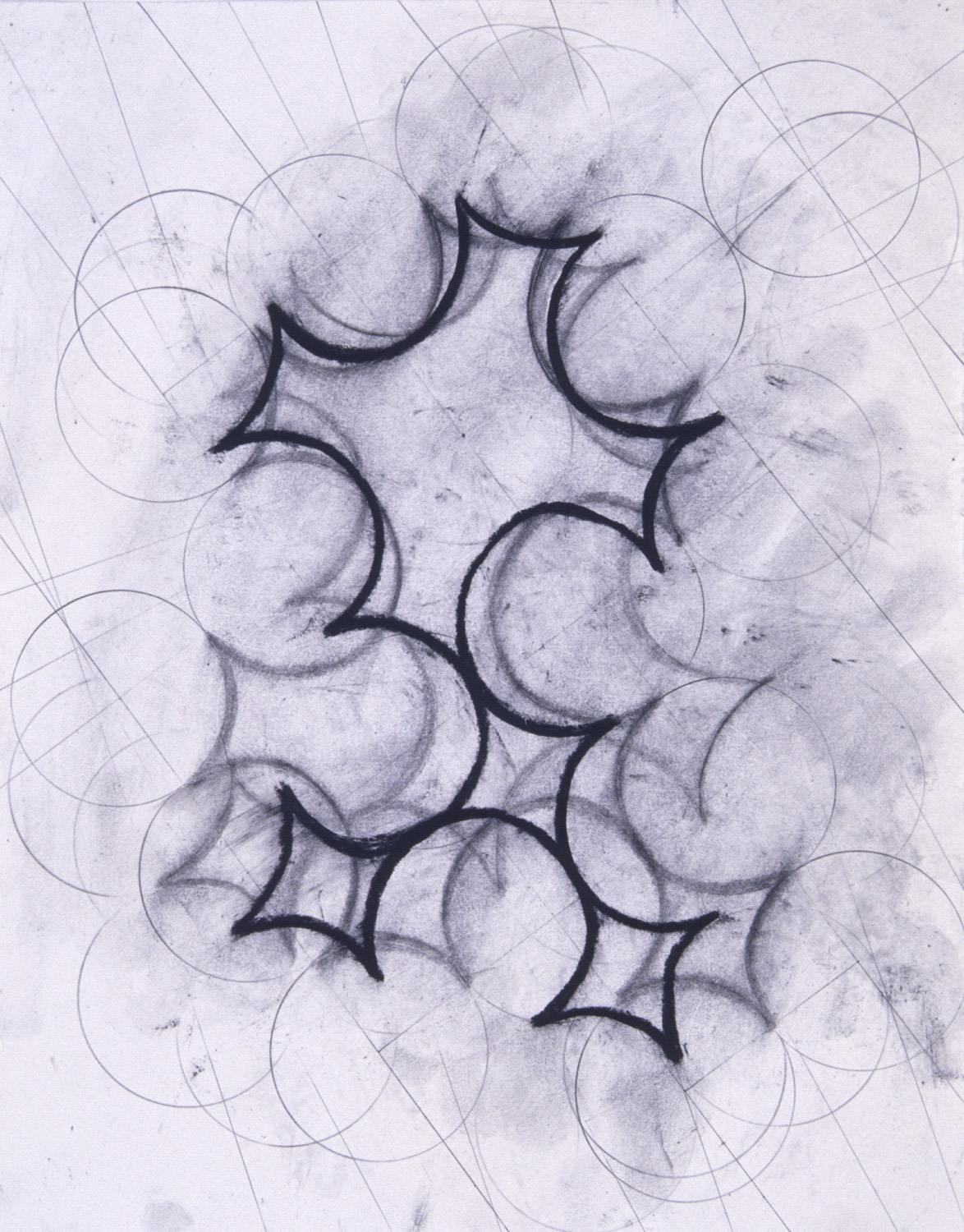 """9/20 #2, 2000, 11x14"""", charcoal & wax on paper"""