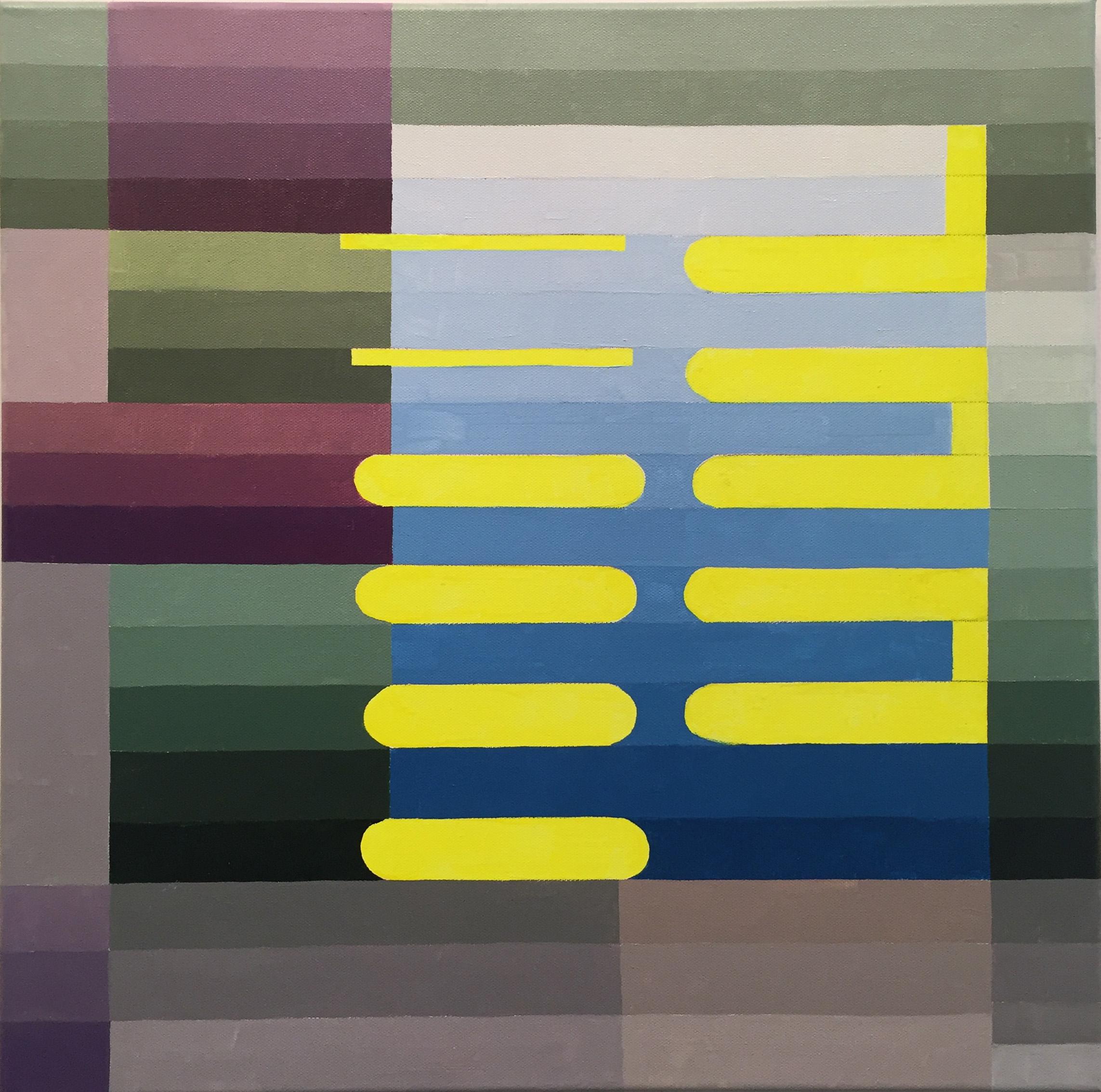oil and acrylic on canvas 24x24, 2018