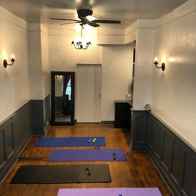 fitness class yoga pilates