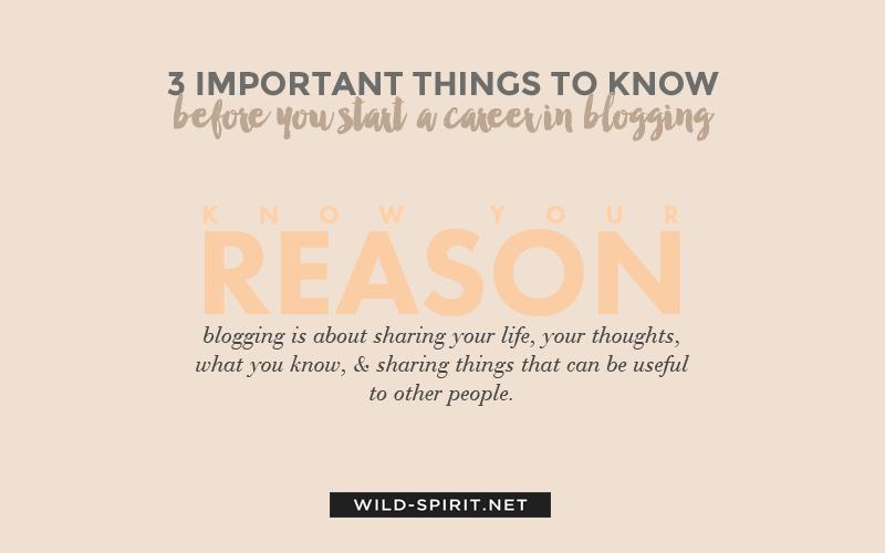career in blogging tip 1