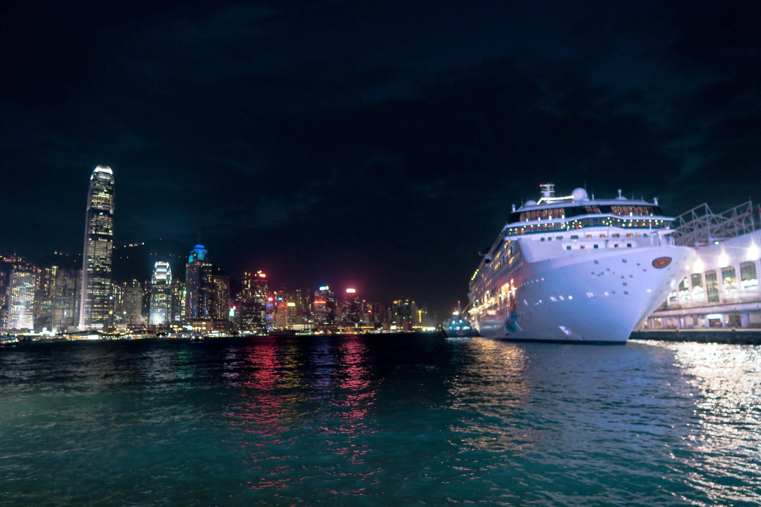 Superstar Virgo docked by Harbor City