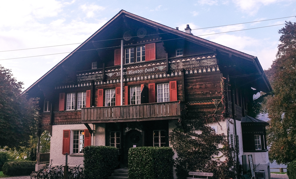 our leissigen hostel - yes, this is an actual hostel. the previous summer home of the man who invented ovomaltine.