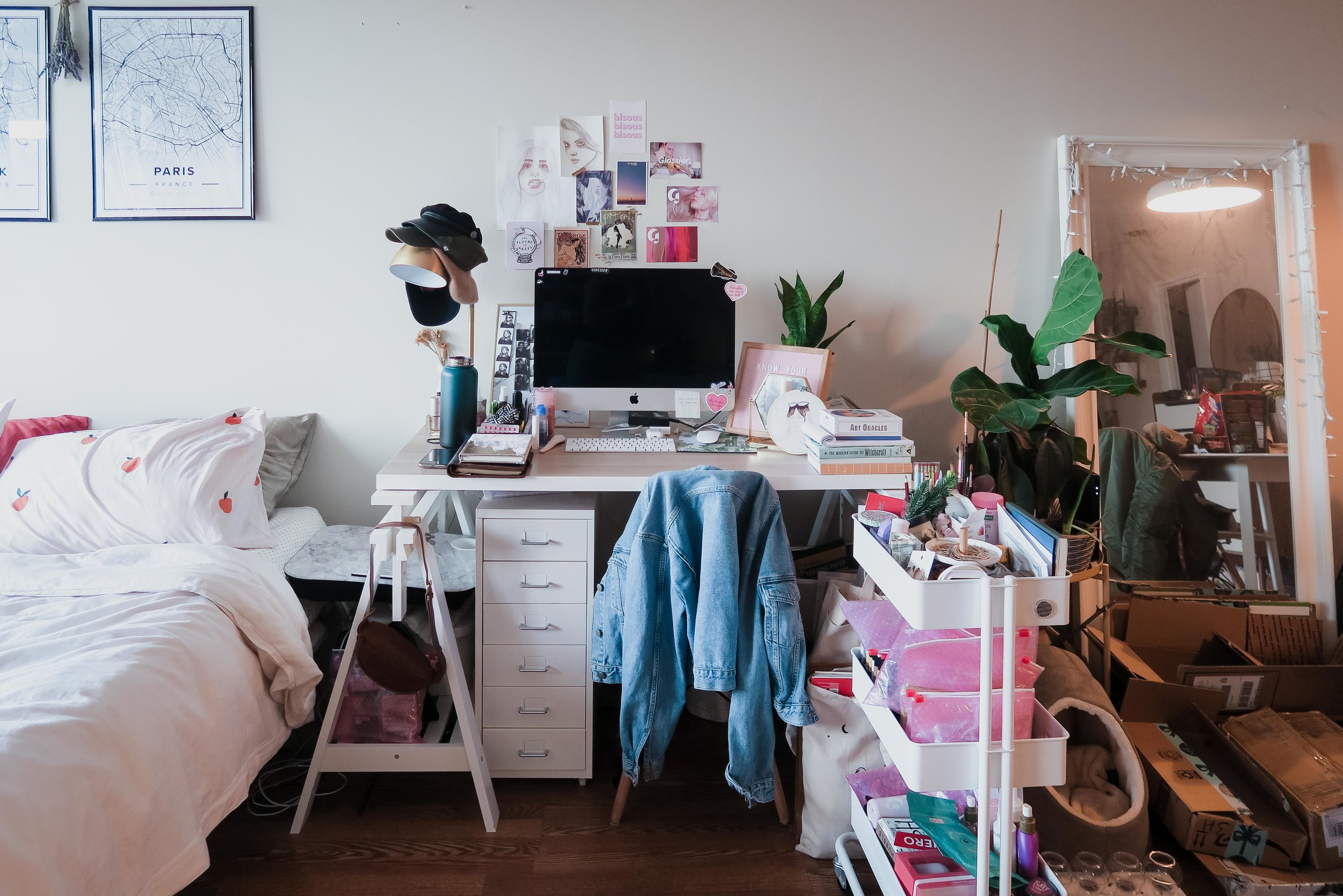 my work space - where most of my clutter & mess lives.
