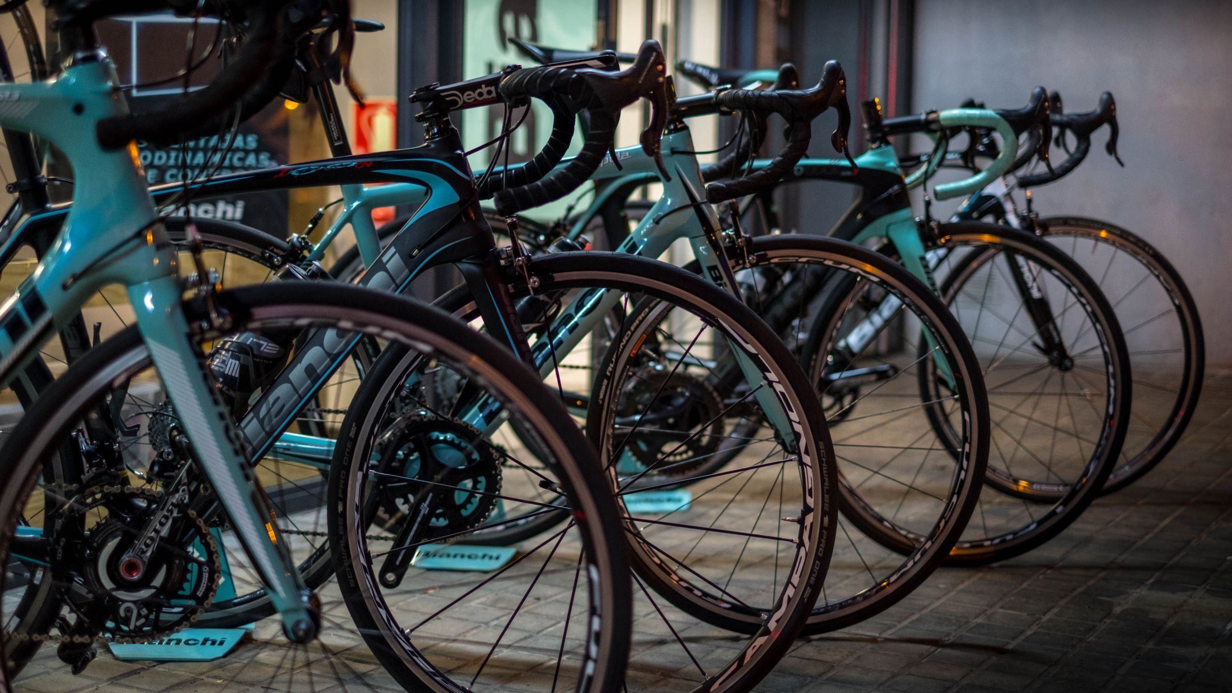 Bianchi bicycles - Cuesta Cycling has a large fleet of the latest Bianchi road bikes in a wide range of sizes.