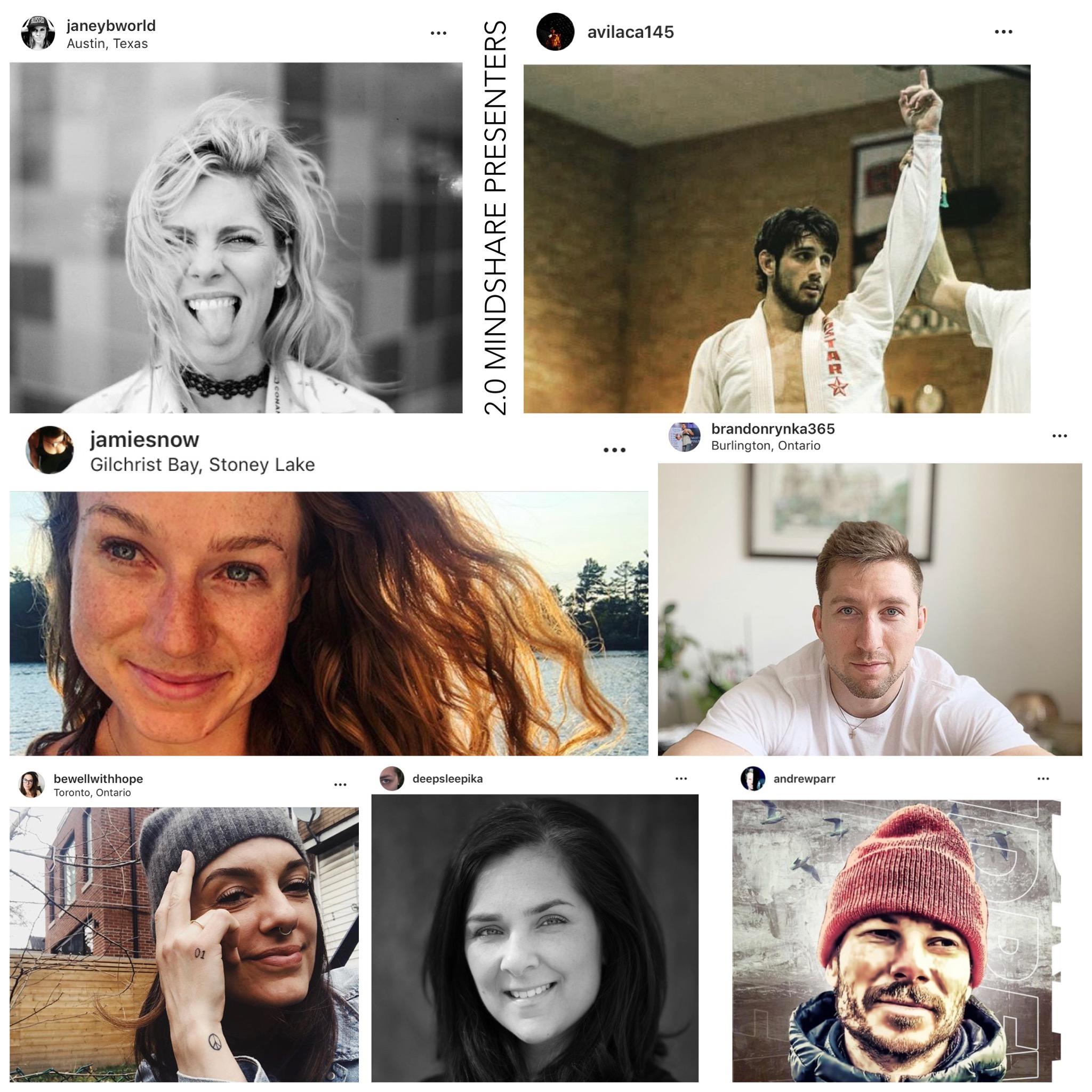 LINEUP OF PRESENTERS  -  Adrian Vilaca  (MMA Fighter & Entrepreneur),  Deepika Malik  (Digital Experience Guru),  Cassandra Hope  (Nutritional Therapist),  Andrew Parr  (Coach & Pro Golfer),  Brandon Rynka  (Motivational Coach),  Janey Brown  (Coach & Performer)