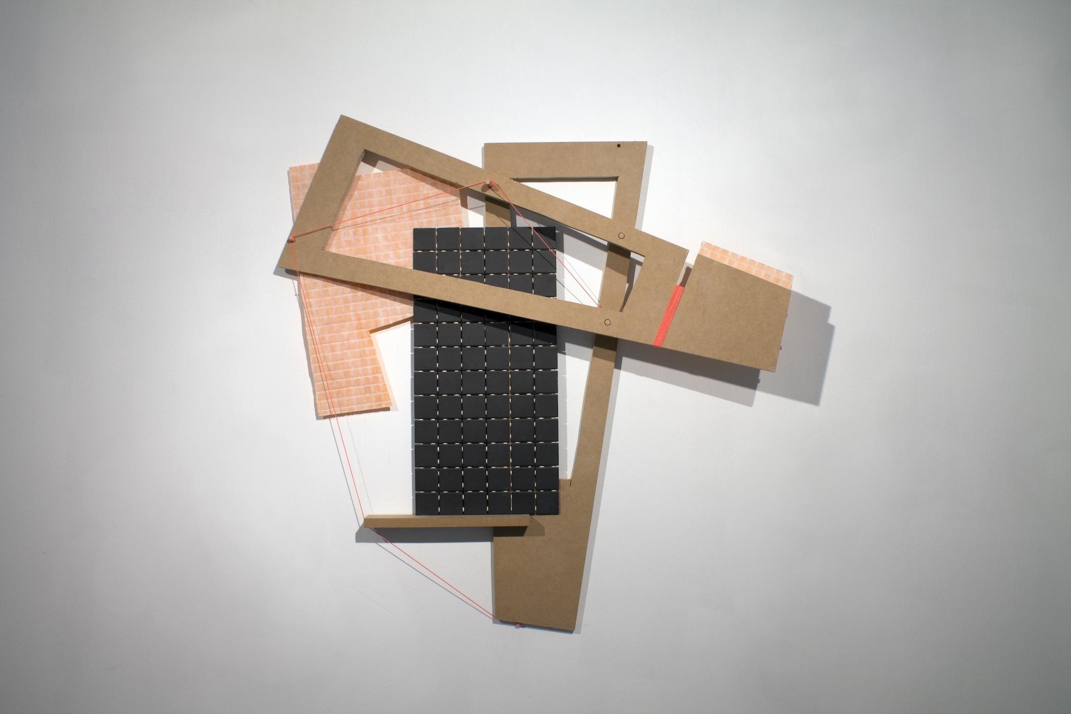 2016  Wood, ceramic tile, string, tile backer