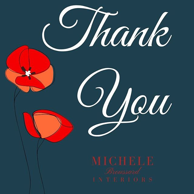 I greatly appreciate all the support my clients and followers bring! I couldn't make things happen without you! #michelebroussardinteriors #thankyou #support #interiordesign #trendyyettimeless #girlboss #appreciation #thankyou