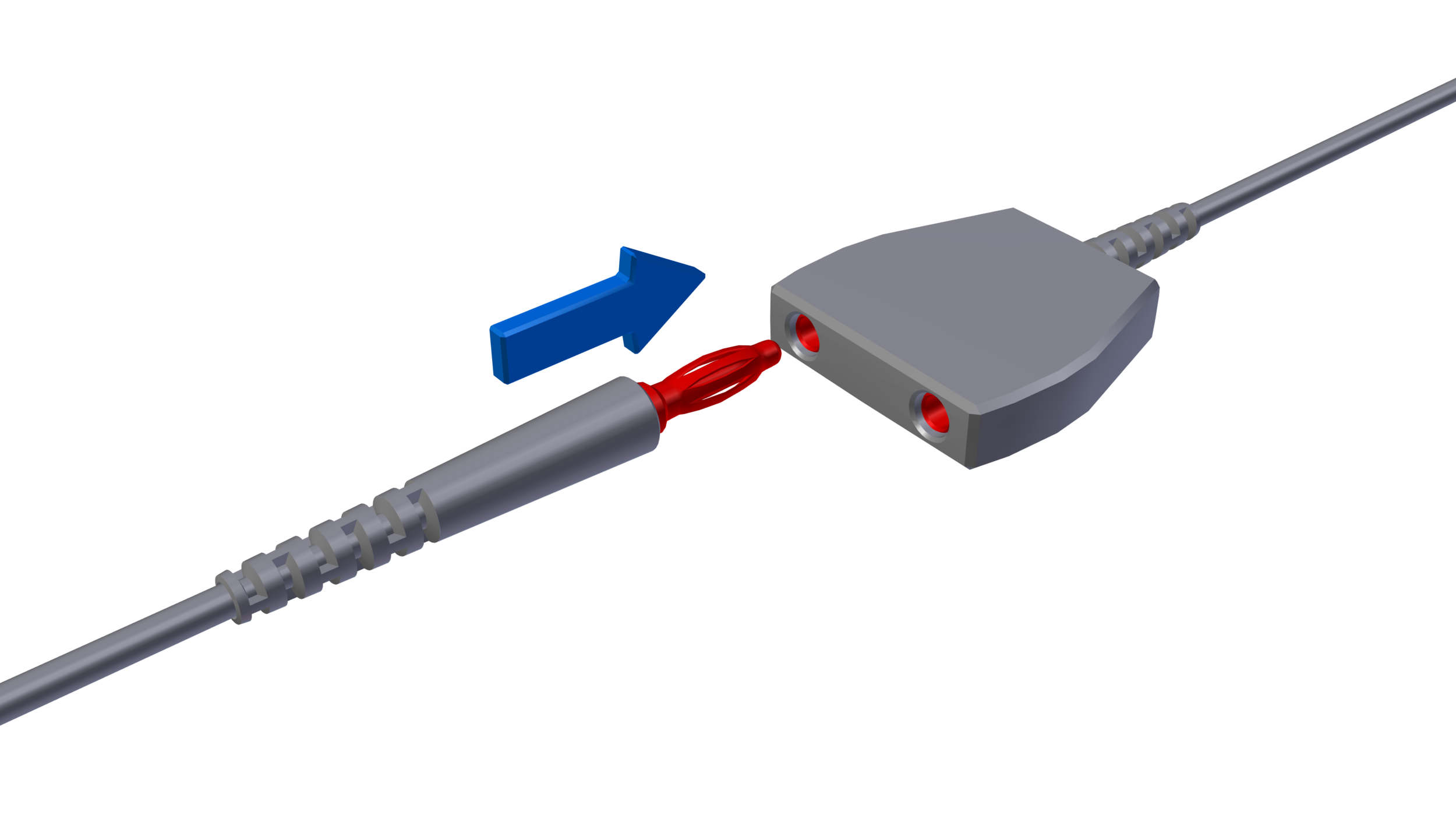 Figure 2: Detach the alligator clip (if included) from the terminal end of the anti-static wrist strap. Insert the banana plug into the common ground point.