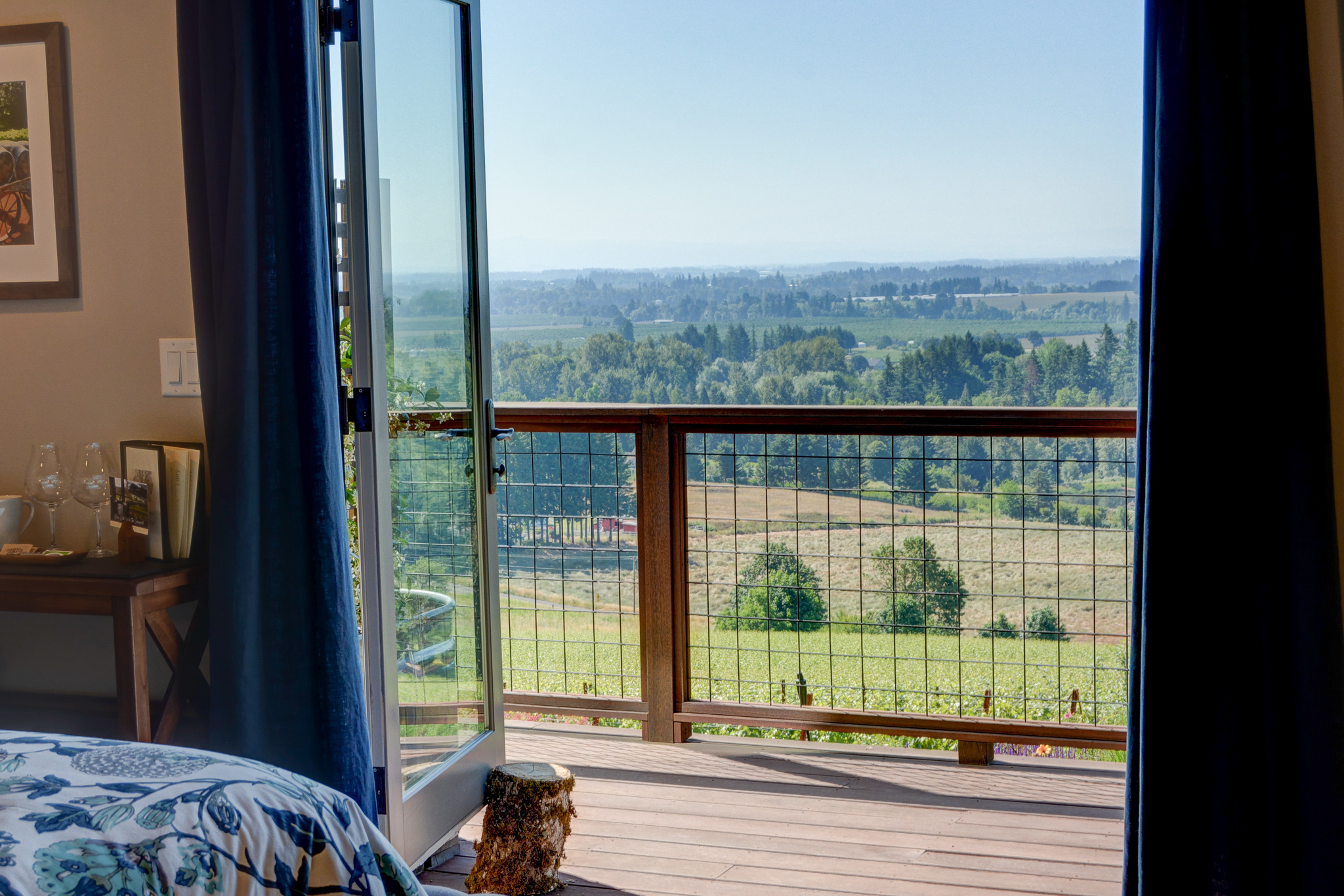 You can look out at all of Willamette Valley from the comfort of your Yamhill-Carlton room