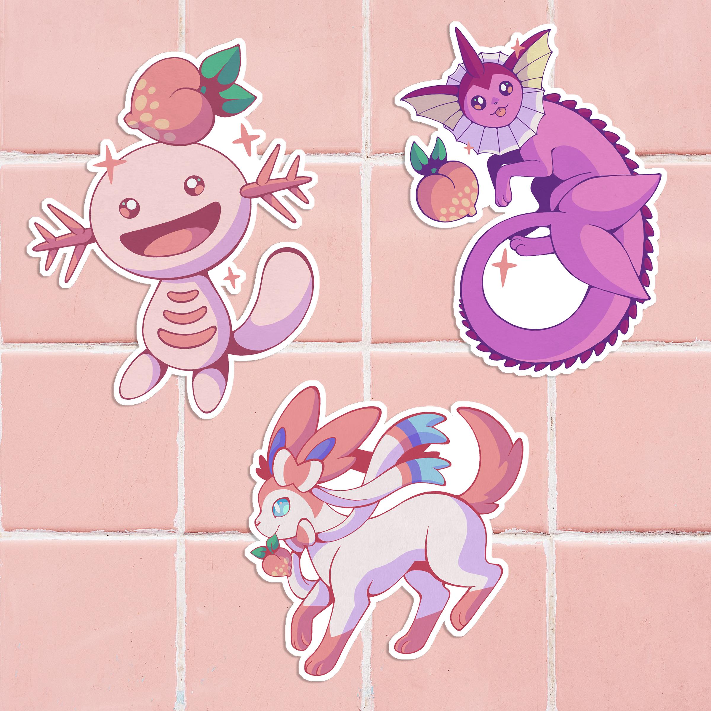 Pink Pokemon Sticker
