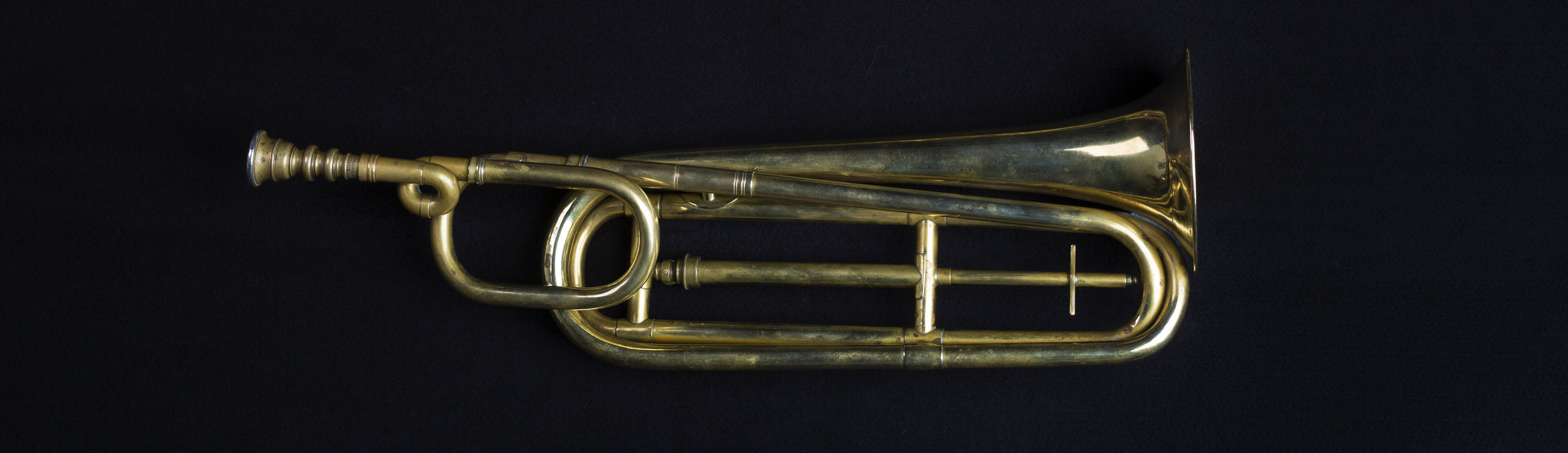 Short Model Slide Trumpet, Frederick Pace, circa 1840