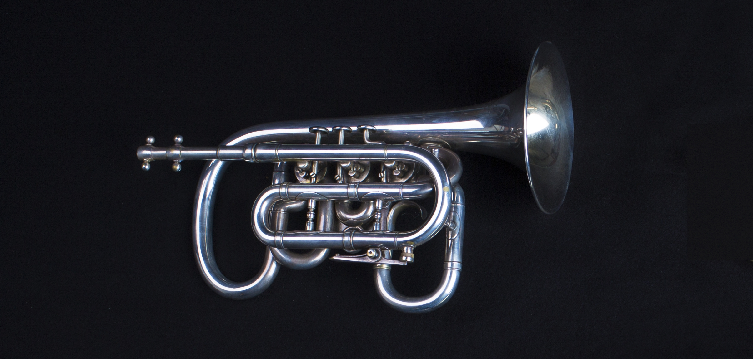 "Boston Musical Instrument Manufactory, ""Esbach Patent""Cornet in B flat, 1879"