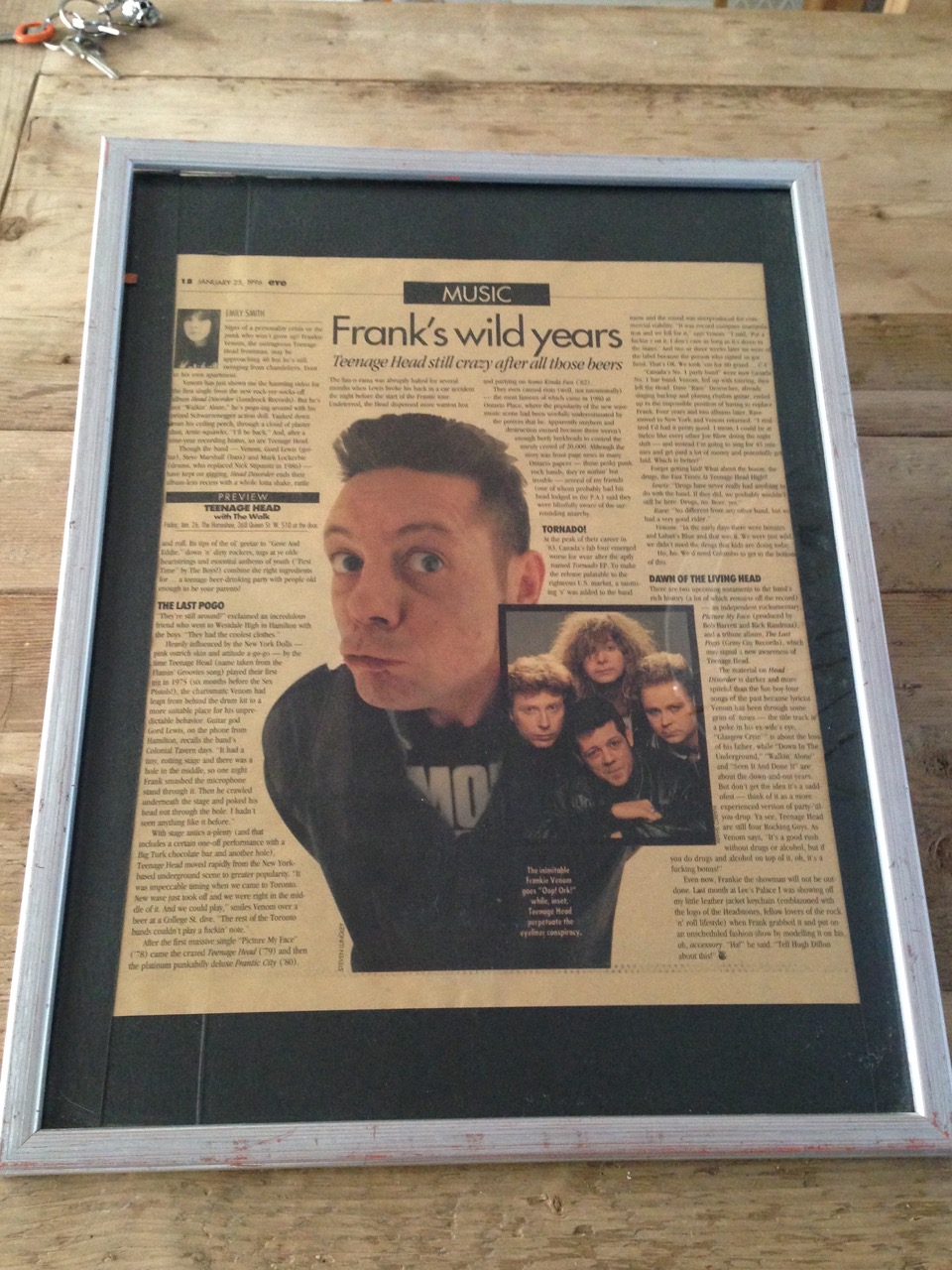 Frankie Venom featured in NOW magazine