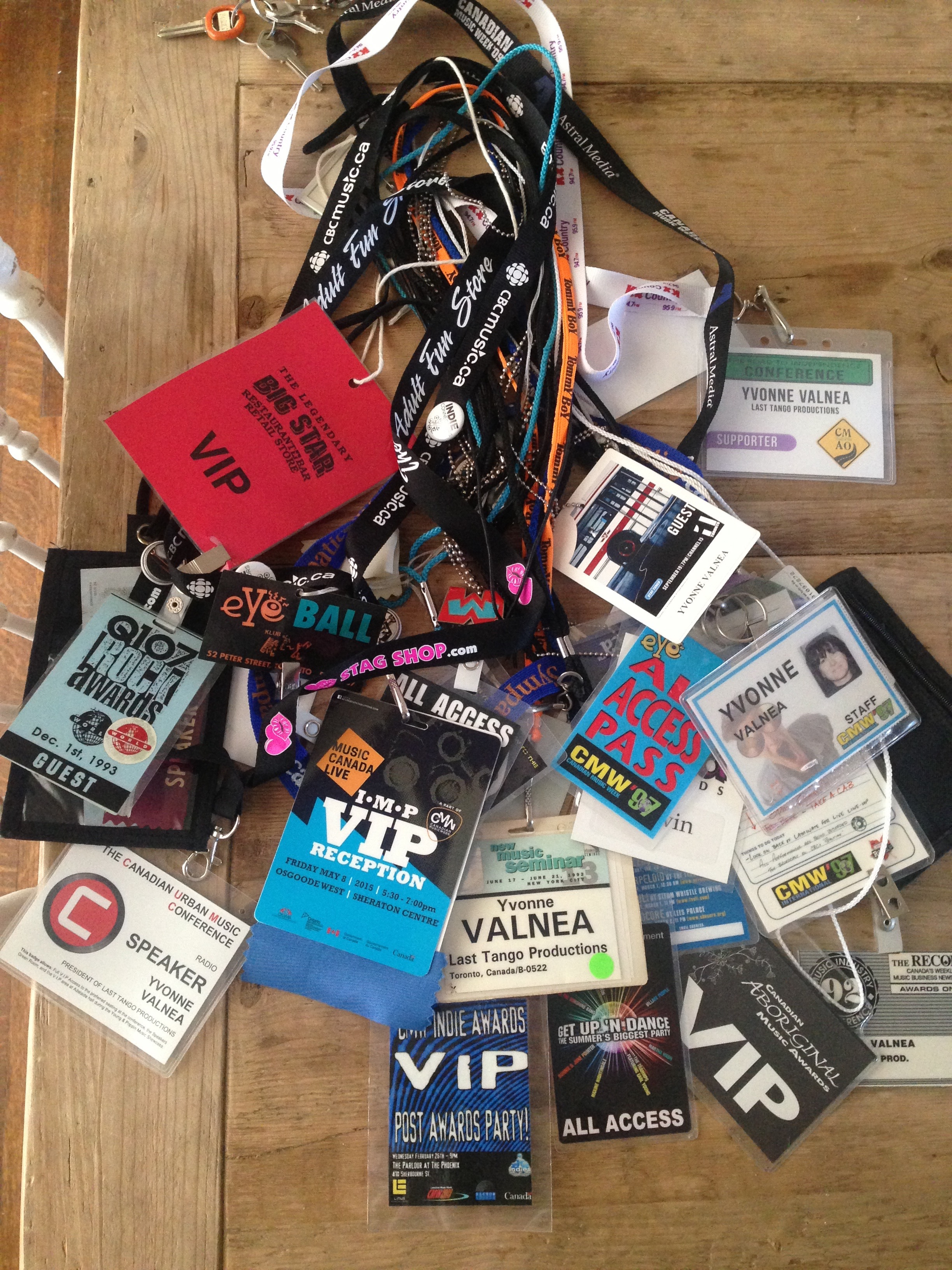 25 years of VIP'ing and backstage passes