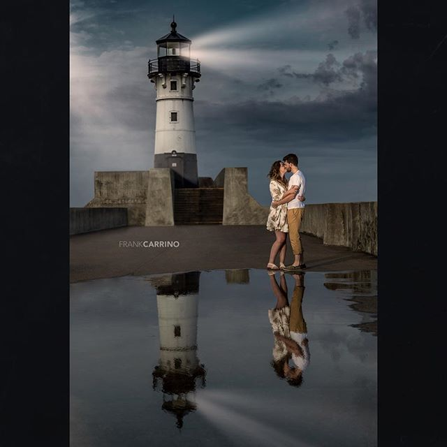 """...guide me home"" epic love deserves an epic photo ❤️ Brandon and Ellen in Duluth Minnesota @brandonparkermn #thekiss #thiskiss #lighthouse #takeuswithyou #destinationphotographer #austinphotographer #socalphotographer #wanderlust_couple #couplesphotographer #couplesphotography #canonbringit #canonusa #mycanonstory #socalphotographer #lakesuperior #duluth @canonusa @canonwhatelse @wanderlust_couples @godoxusergroup @magnetmod"