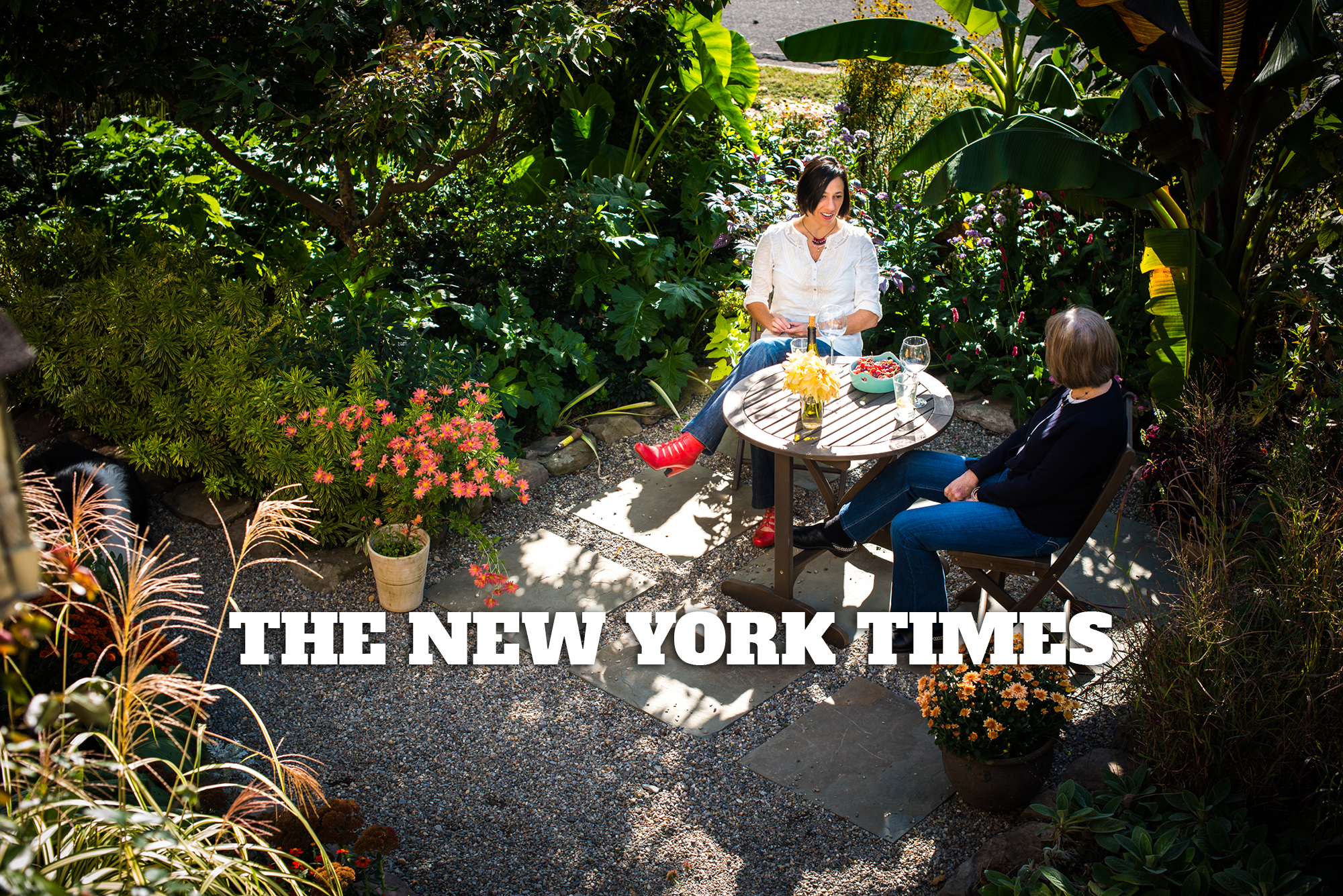 """He'll Try Anything""  by Michael Tortorello for the New York Times chronicles Thomas & Melissa's early attempts to establish a garden with no budget and a small child. Photo above by  Darren S. Higgins."