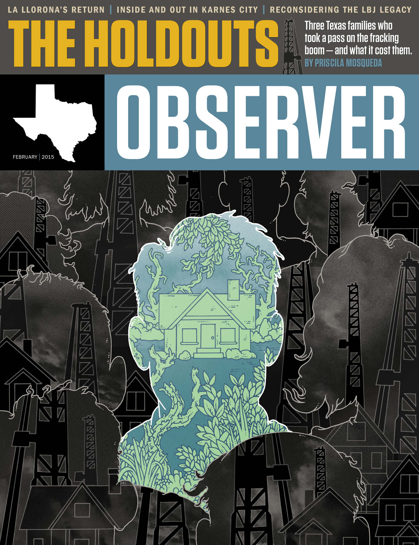 Texas Observer. Art Director Chad Tomlinson.
