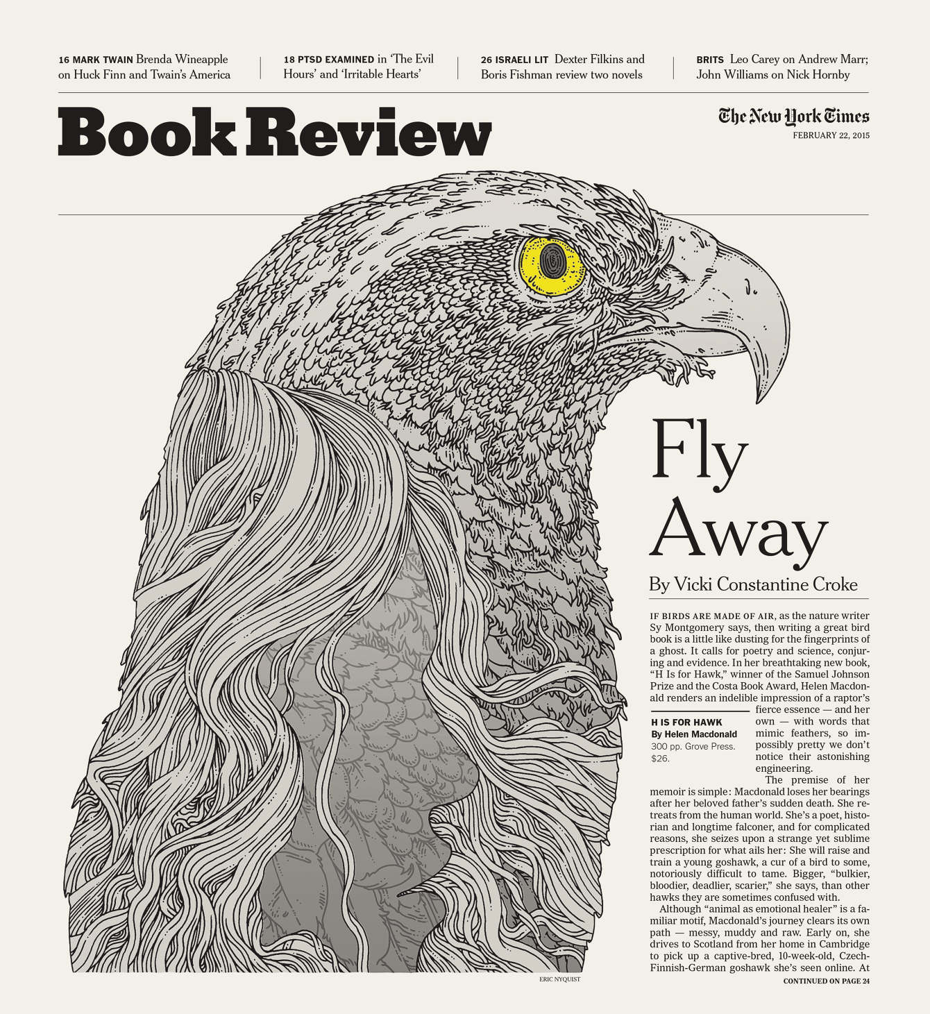 New York Times. Art Director Nicholas Blechman. For Article  Click Here.