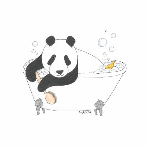 Bathtime Panda