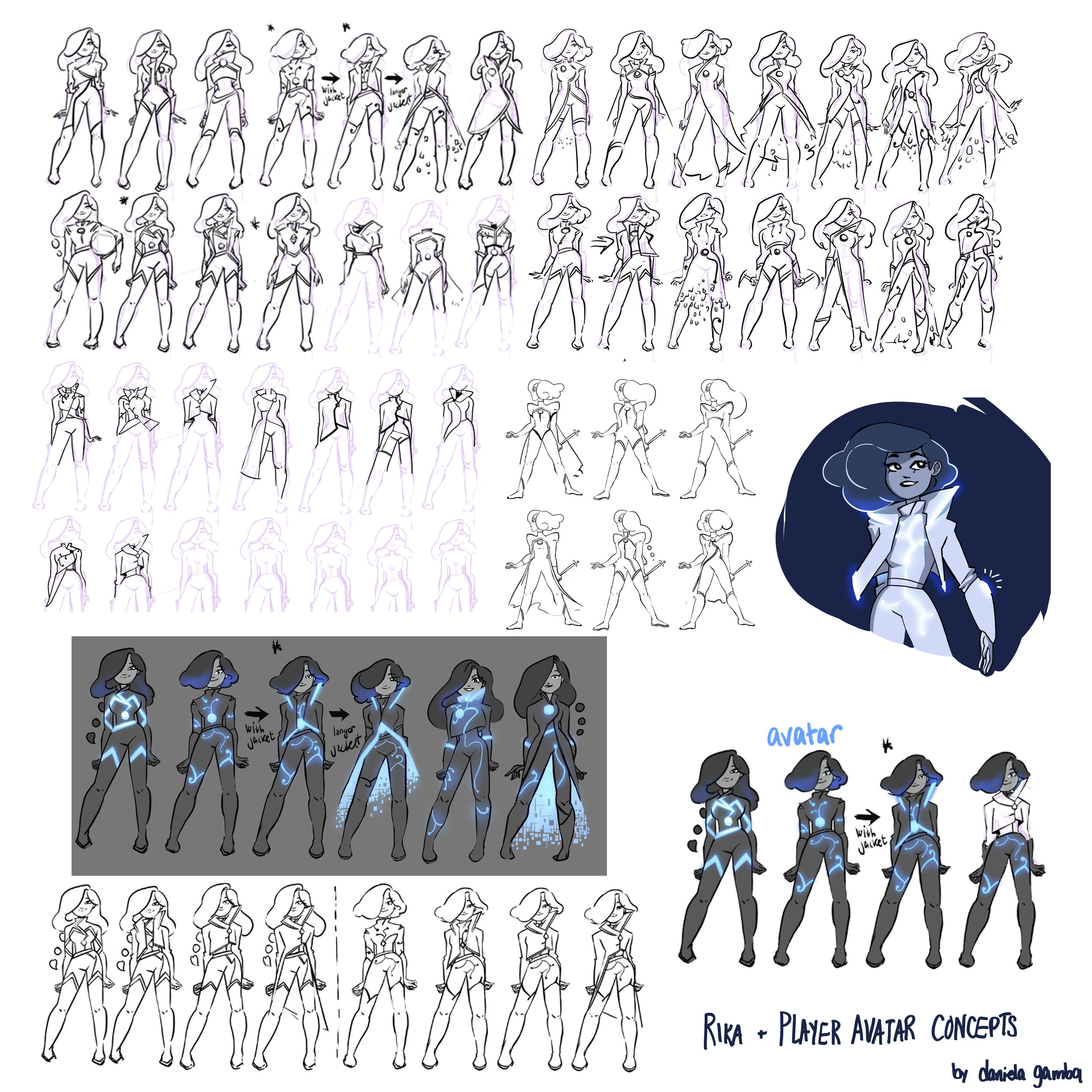 Character and avatar concepts for Pyr.