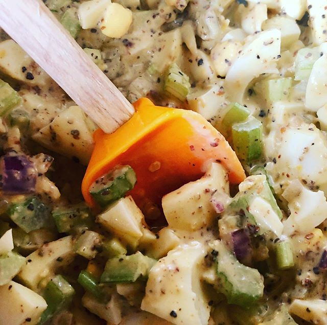 I ♥️ egg salad. Sous vide eggs. Homemade Mayo #eggsaladsandwich #eggsalad #mayo #mayonnaise #eggs #sousvide