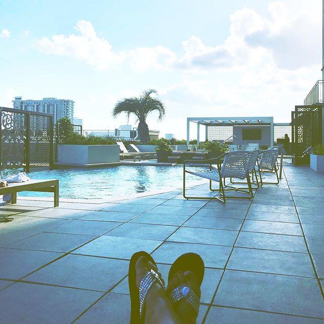 Chillaxin & Relaxin #houston #pool #poolside #dominionpostoak