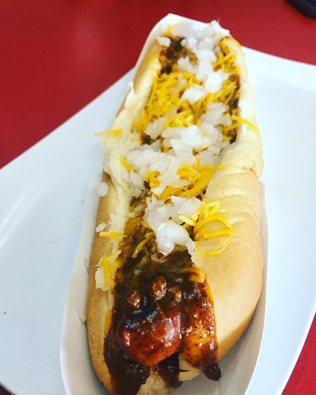 Yessssss! I ♥️ footlongs! #coney #coneydog #houston #houstonrestaurants #jci #jcigrill