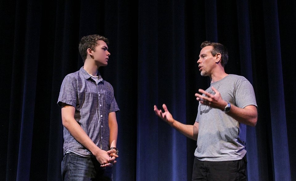 Special Guest Artist, Tony Award-nominee, Obie Award-winner, & Drama Leauge Award-winner, Adam Pascal with MFAA Musical Theatre Certificate student, Dylan Jacob Tacker