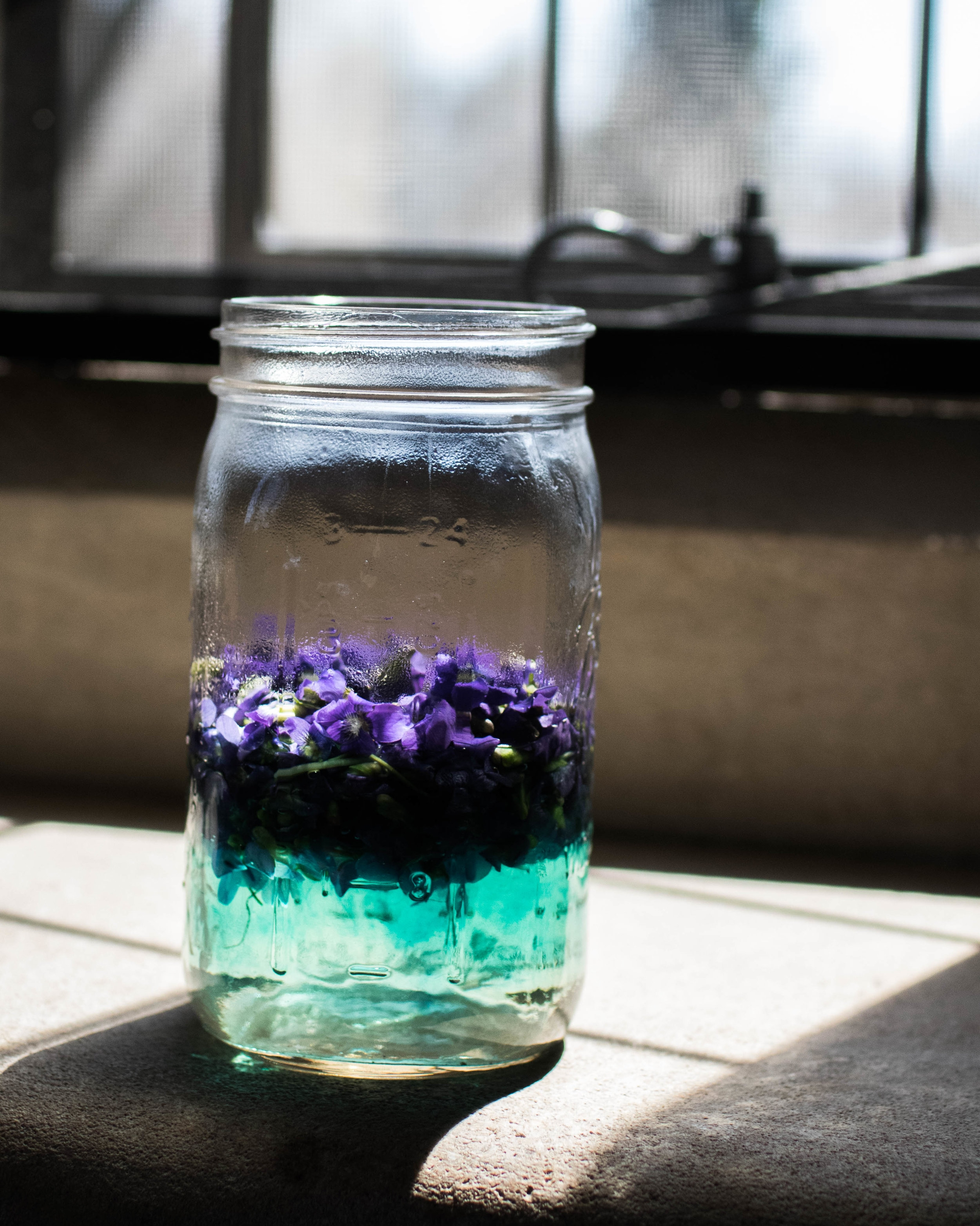Violet Syrup in the making... Photo by FreeDom Danielle Flowers