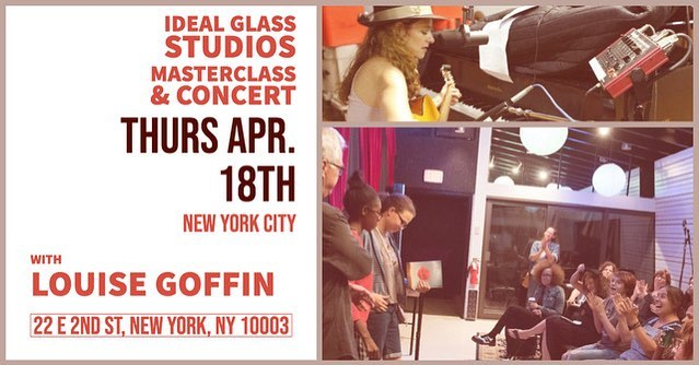 One week from today, I'll be giving a masterclass and performing a concert at Ideal Glass Studios in NYC. Come for one or both!