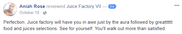 Review of Juice Factory VII in Troy, NY