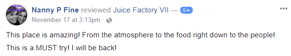 5 Star Review for Juice Factory VII in Troy NY