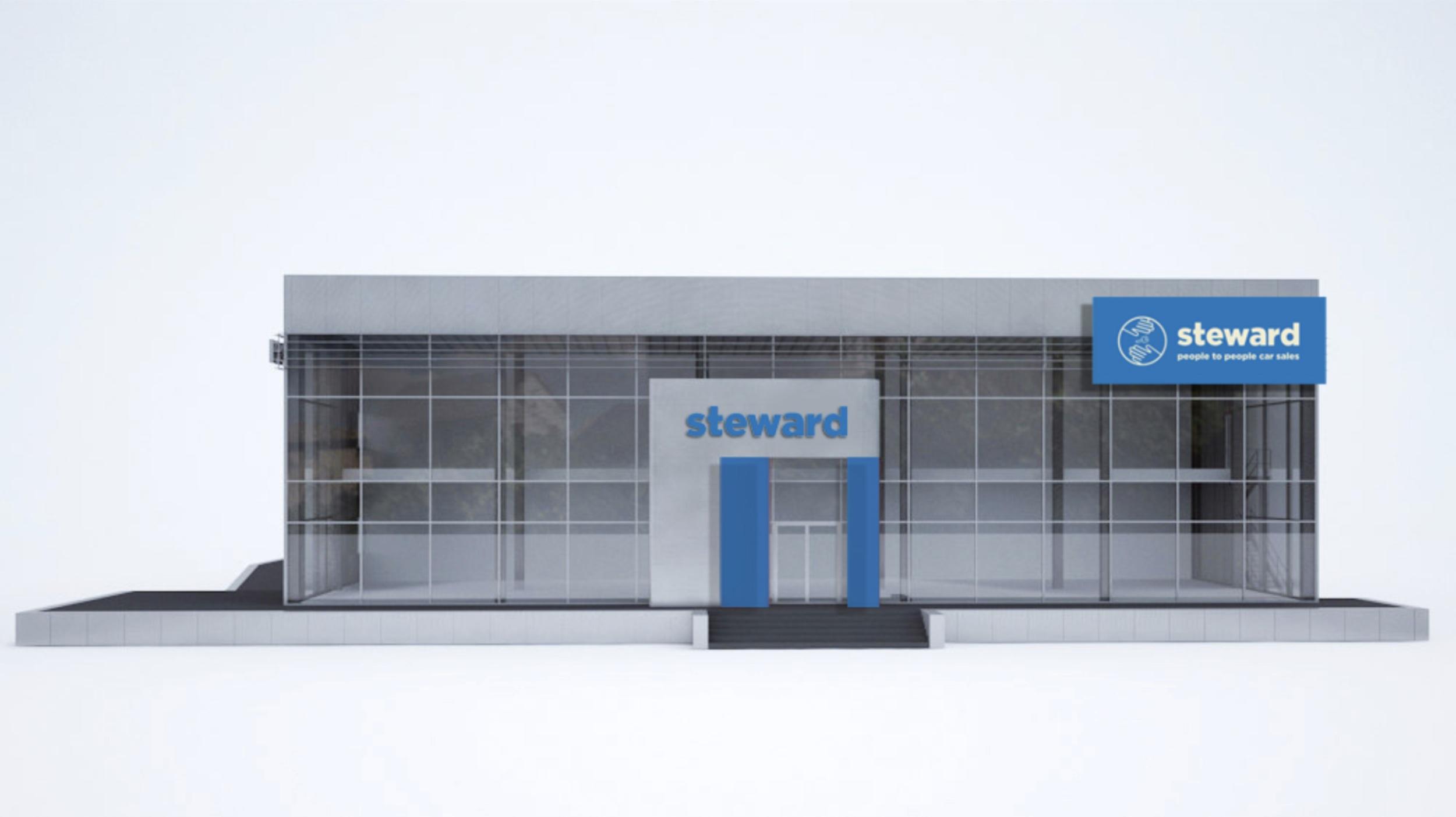 Steward dealership store front.