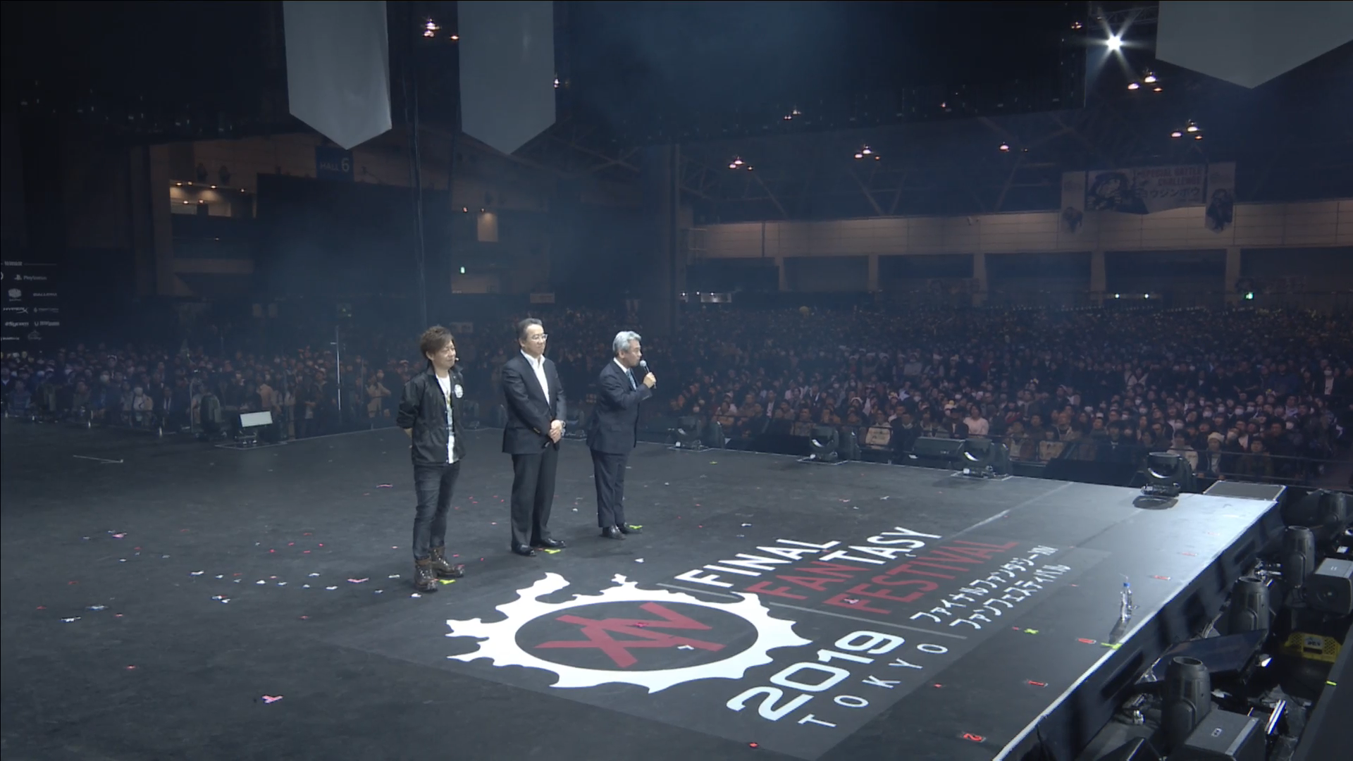 """That's the three most important people at Square-Enix on that stage right now."" Yosuka Matsuda and Shinji Hashimoto address the crowd following the keynote."