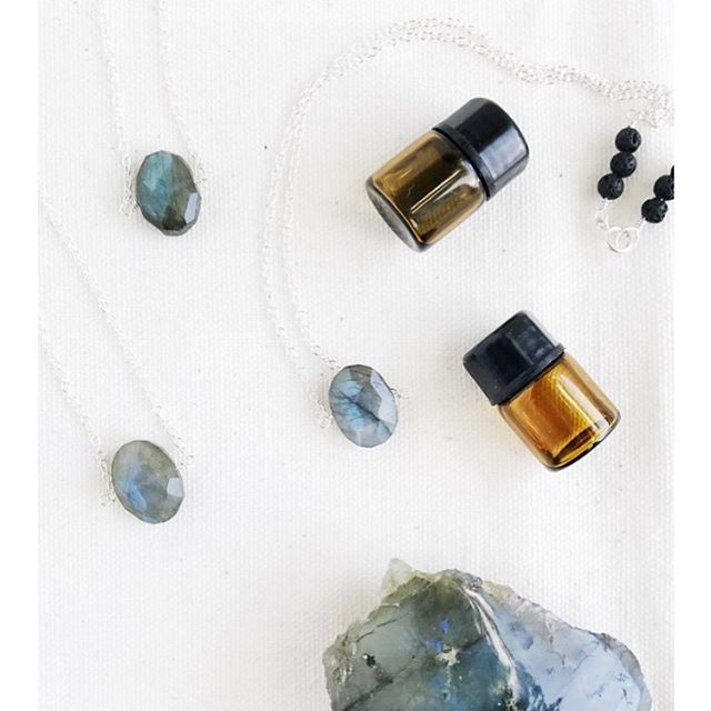 Stunning, petite, tidepool shaped pieces of labradorite emit flashes of color like the sea. • One of the most magical and protective stones, labradorite forms a barrier and deflects unwanted energies from the aura.