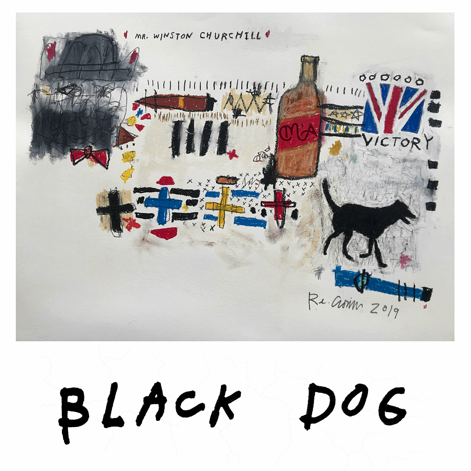 "Ryan Cronin's album artwork for ""Black Dog"""