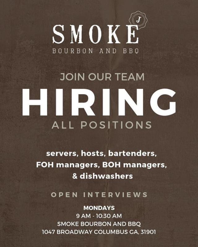 🌟 Are you interested in joining our team? We want to meet you! 👋  Join us on Mondays from 9:00a.m.–10:30a.m. for open interviews. We are hiring for all positions, both Front and Back of House. 👍 If you have experience in the service industry, stop by and say hello! 😊 ✨