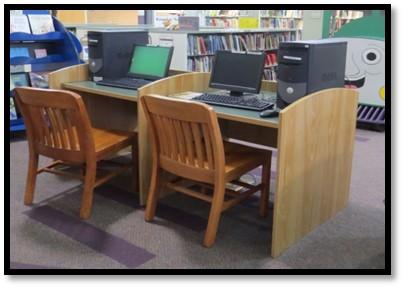 Children's computer desks a gift of FOWWL.