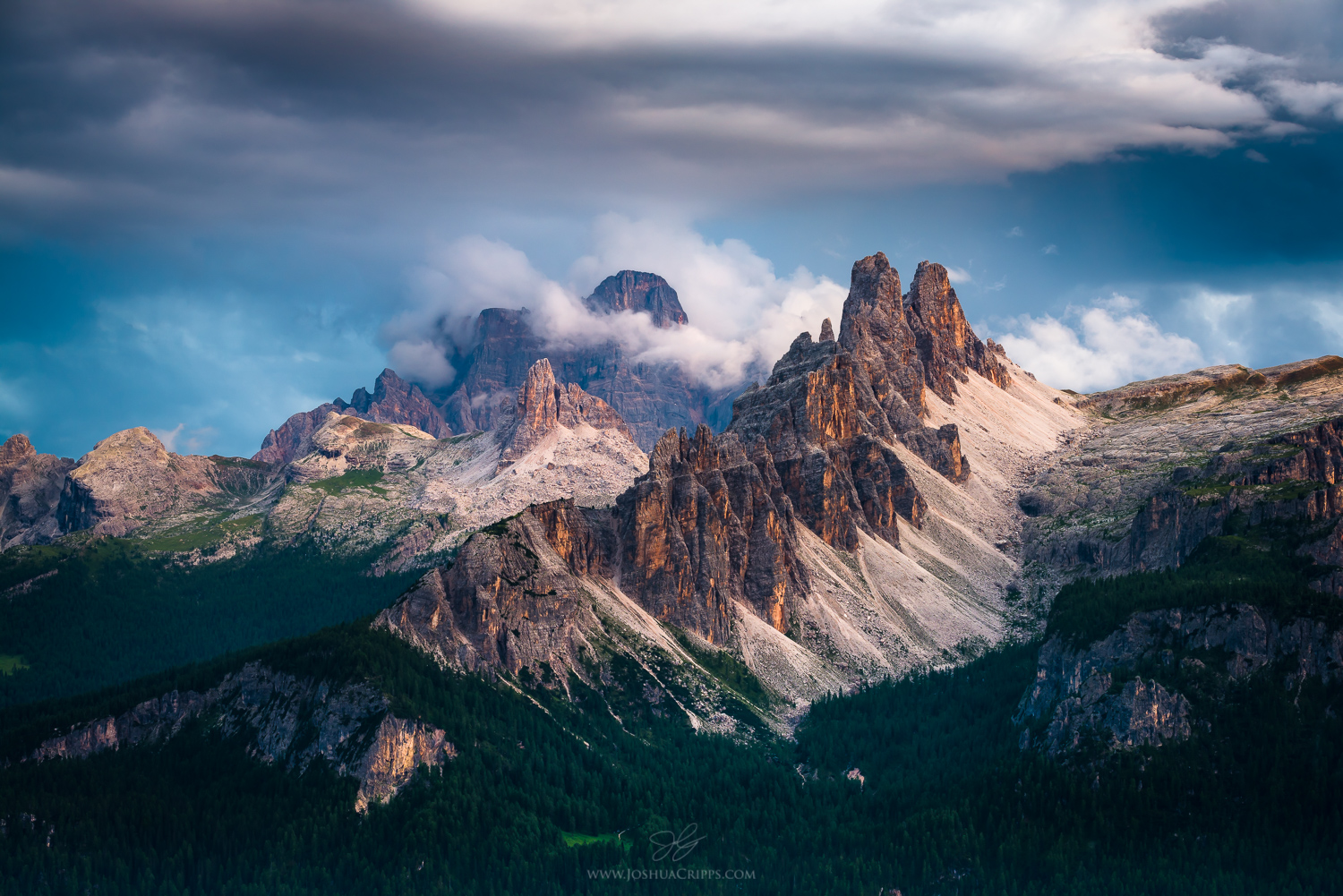 ITALIAN DOLOMITES - TIMELESS MAJESTYJoin us in the heart of summer as we disappear into the untouched sweeping wilderness of the Dolomites. These jagged peaks in Northern Italy are infamous for being some of the most beautiful mountain ranges on Earth, with spectacular vertical pinnacles, twisting spires and ethereal heights. We'll be venturing deep into the isolated Marmole group, and will spend two nights camping out in the forest under the open stars.Picturesque alpine hikes, fireside ceremonies, rock climbing and many other forms of magic and nature connection await.On our final evening, we will emerge back into civilization to the picturesque town of Cortina D'Ampezzo. Nestled in an alpine valley on the banks of the Boite river and home to many local artisans and craftsmen, this is the perfect place to celebrate our adventure before heading home.