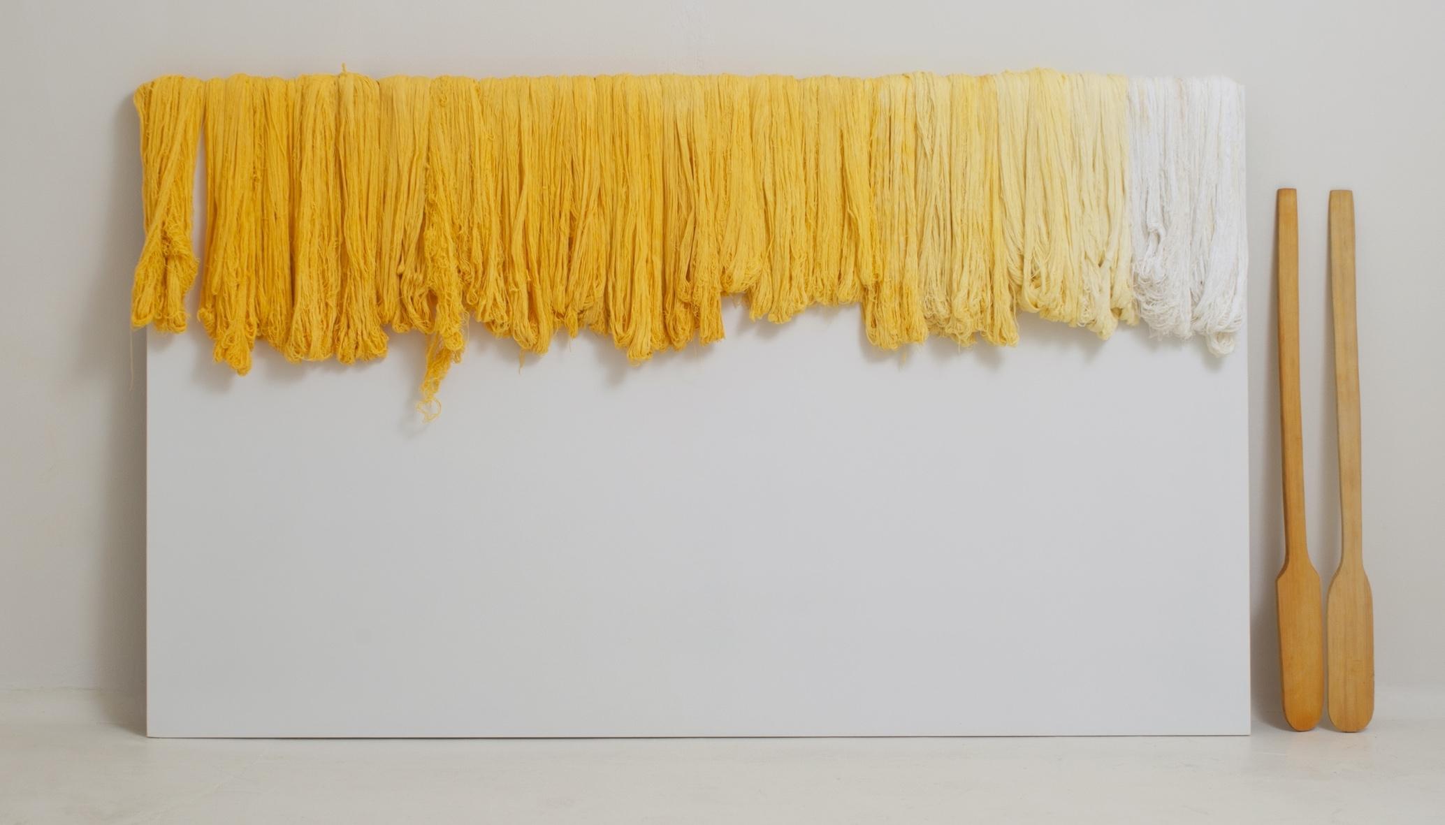 Sandra Monterroso, Expoliada (2011).Thread and wood.