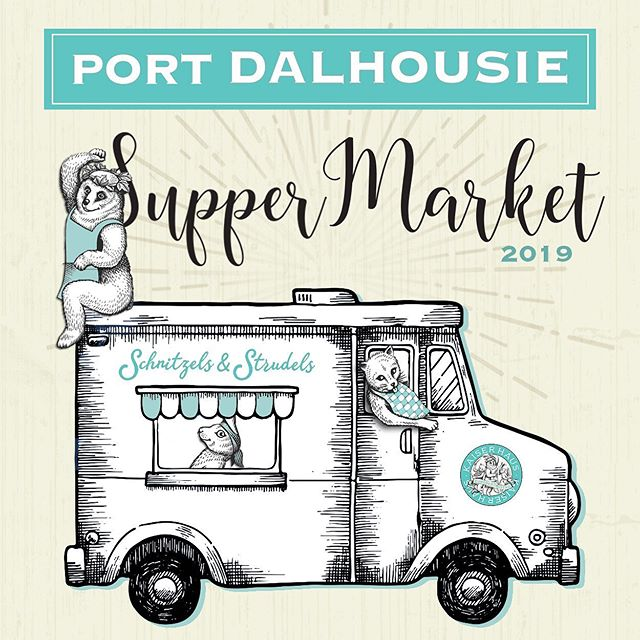 Market night! We'll be serving up our classic Brat on a Bun with horseradish remoulade and pickled onions, 4:30-dusk #portdalhousie #comeandgetit  #seeyouontheisland