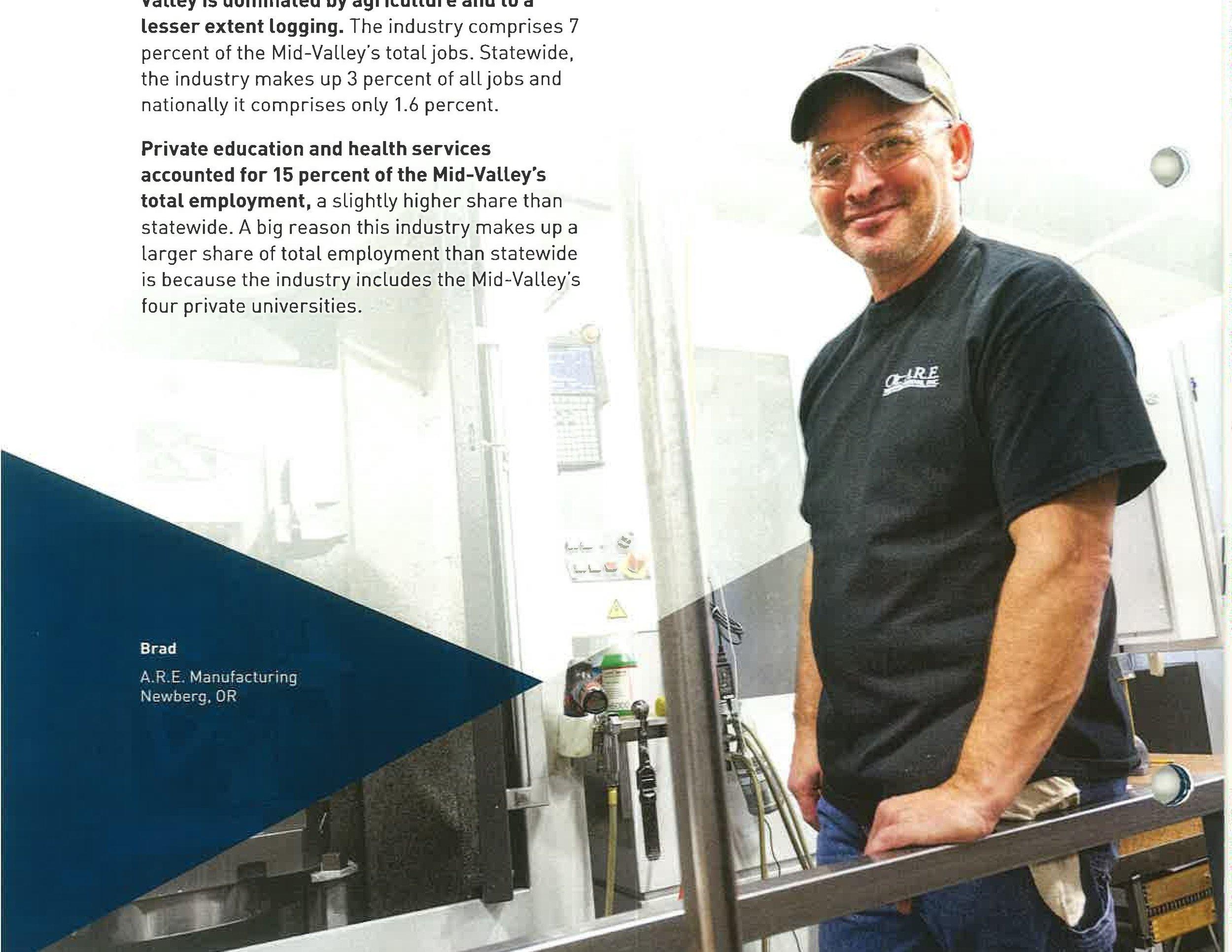 Newberg, Machine shop, Brad Ayers