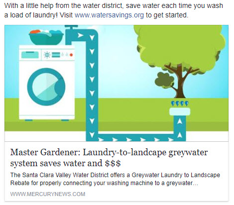 For more information about the Water District's Graywater Laundry-to-Landscape Rebate,  click here.