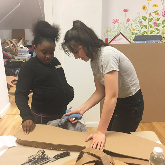 Works in progress!! We have been having SO much fun getting ready for Hudson's first annual Mad Hatter parade, taking place this Saturday, May 11th at 2pm starting at the @hudsonarealibraryny ! Organizers Sophia and Alex of @processional_arts have been such a help, and their @bardcollege students too! And of course our multitalented and highly creative Whitney @fredetrout is helping the girls pull it all together in time for this weekend. We can't wait!! Stay tuned for finished hats and costumes 🎩 . . . #perfecttenhudson #communitylove #madhatter #diy #cardboard #creativeprocess #wild #wacky #aliceinwonderland #hudson #hudsonvalley #parade #madhatterparade #workinghard #grateful #seriouslycool #thisweekend #joinus #dreamitup