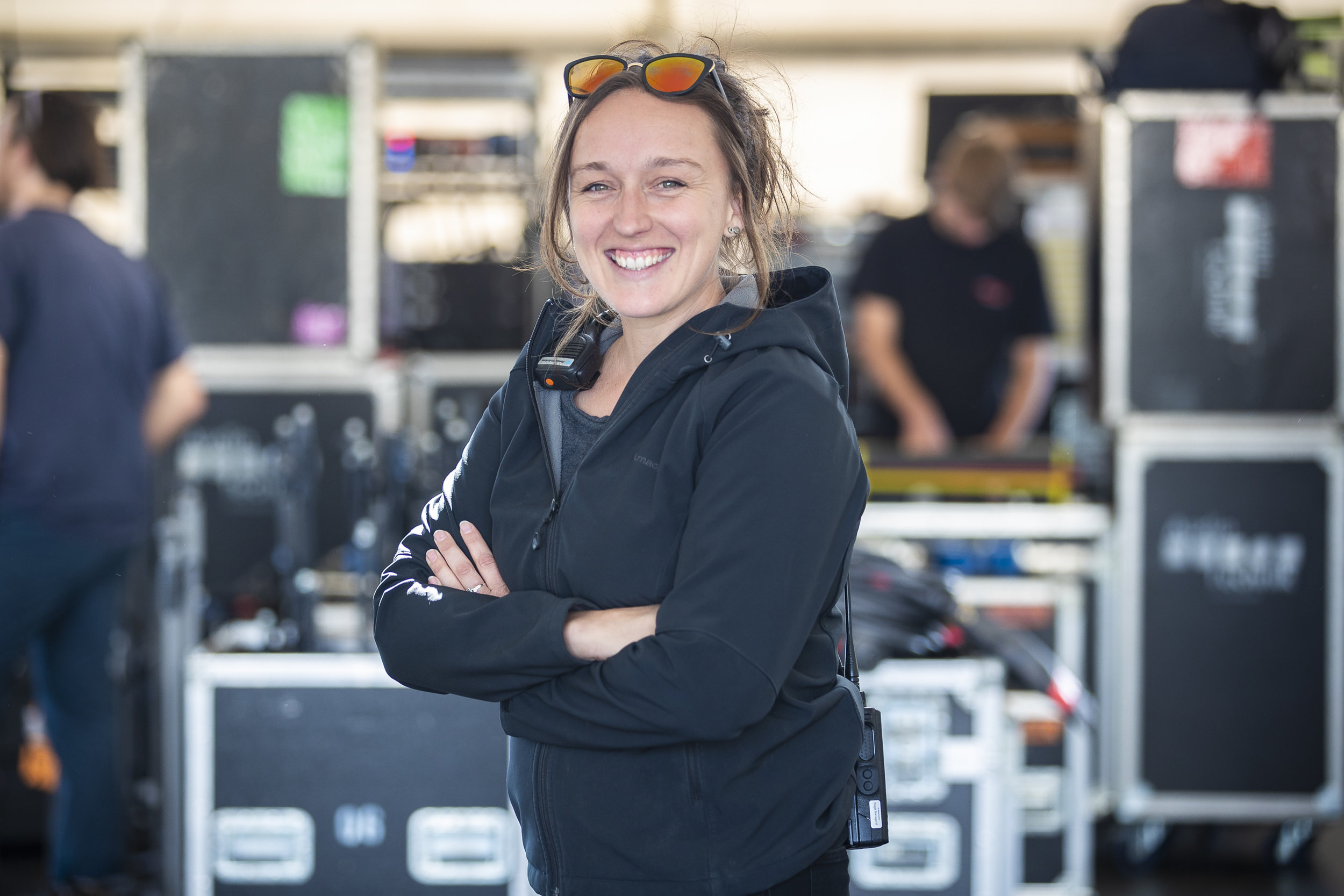 Production manager Emma Hawkes looks up to any woman touring in the