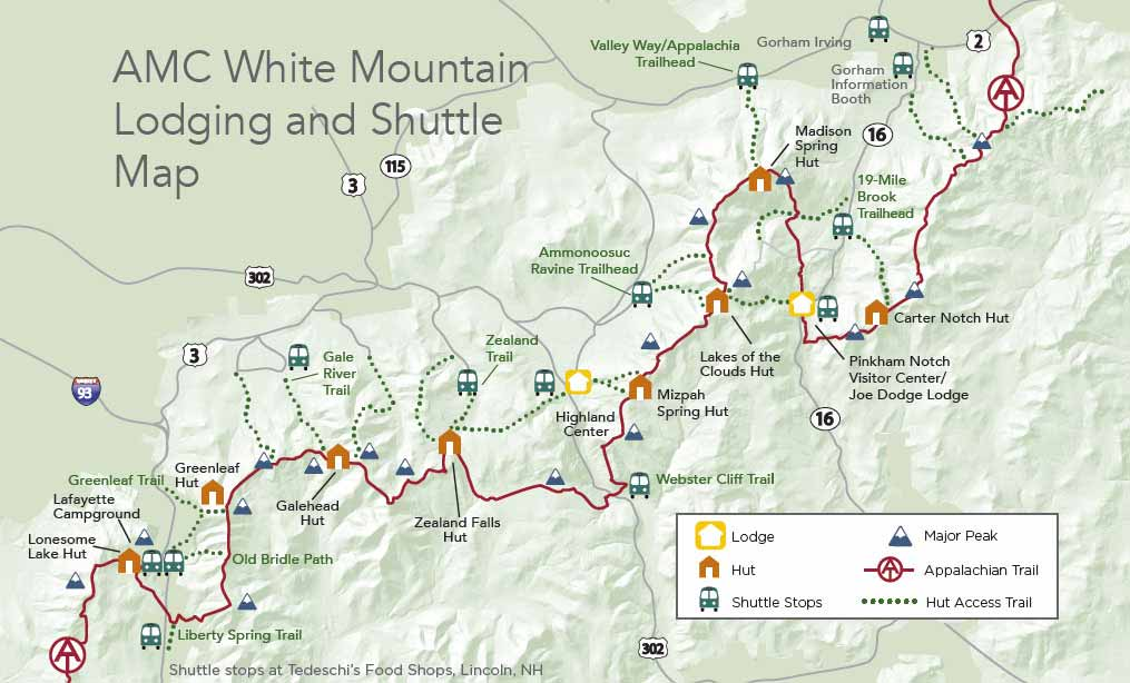 hiker shuttle map